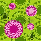 Frühlings Mandala Nahtloses Muster