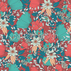 Flourishing Bloom Seamless Vector Pattern Design