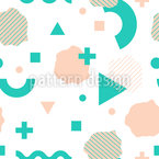 Geometric Elements Vector Ornament