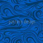 Brisk Waves Seamless Vector Pattern Design