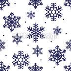Schneeflocken Zeit Nahtloses Vektormuster