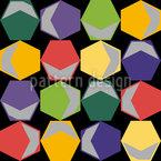 Hexagon in giro disegni vettoriali senza cuciture