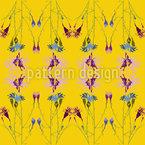Strahlende Blumenbasis Nahtloses Vektormuster