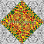 Mosaic Fields Seamless Pattern