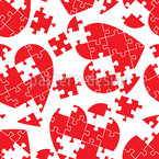 Herzpuzzel Nahtloses Muster