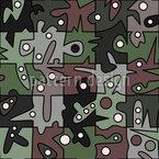 Im Wald Spielen Nahtloses Muster