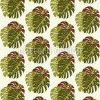 Tropfende Blätter Nahtloses Vektormuster