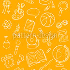Decorative School Stuff Seamless Vector Pattern Design