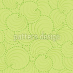 Circle Leaves Seamless Pattern