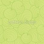 Runde Blätter Nahtloses Muster