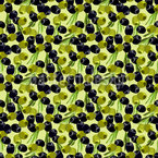 Tasty Olives  Seamless Vector Pattern Design