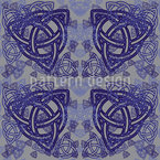 Celtic Symbols Seamless Vector Pattern Design