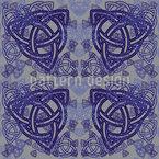 Símbolos celtas Design de padrão vetorial sem costura