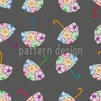 Blumen Schirme Rapportiertes Design