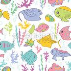 Das Leben Unter Wasser Ist Schön Musterdesign