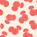 Carnations For You Seamless Vector Pattern Design