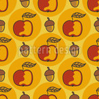 Acorn And Apple Vector Design