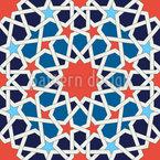 Flowering Mosaic Seamless Vector Pattern Design