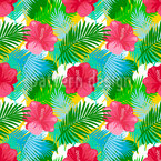 Tropical Summer Seamless Vector Pattern Design