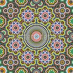Marokkanisches Mosaic Nahtloses Vektormuster