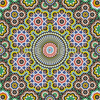 Moroccan Mosaic Seamless Vector Pattern Design
