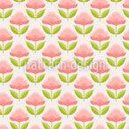 Bonbon Blumen Nahtloses Vektormuster