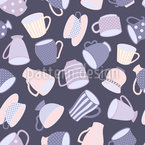 Royal Cafe Seamless Vector Pattern Design