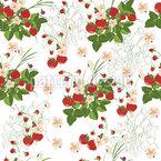 Überall Erdbeeren  Nahtloses Vektormuster