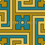 Decorative Labyrinth Seamless Vector Pattern Design