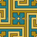 Dekoratives Labyrinth Nahtloses Vektormuster