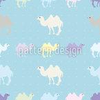 Kamele Zählen Nahtloses Vektor Muster