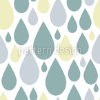 Retro Raindrops Vector Pattern