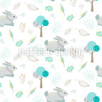A Day In The Woods Seamless Vector Pattern Design