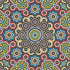Filigranes Mosaik Nahtloses Vektor Muster