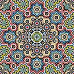 Filigree Mosaic Seamless Vector Pattern