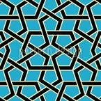 Labirinto de Linha Design de padrão vetorial sem costura