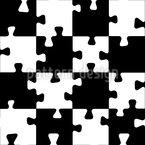 Schachbrett-Puzzle Muster Design