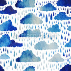 Falling Drops Seamless Vector Pattern Design