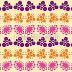 Japanische Blüten Nahtloses Vektormuster