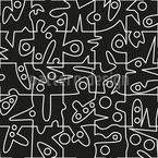 Verrücktes Puzzle Nahtloses Vektormuster