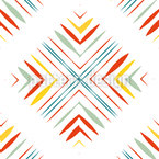 X in Square Seamless Vector Pattern Design