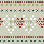 Seasonal Cross Stitch Seamless Vector Pattern