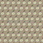 Apple Halves Vector Pattern