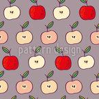 Fruchtige Äpfel Nahtloses Vektormuster