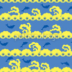 Wavy Games Seamless Vector Pattern Design