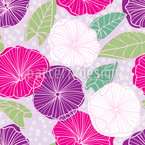 Exotic Bindweed Seamless Vector Pattern Design