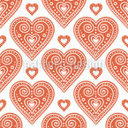 Seasonal Love Hearts Repeating Pattern