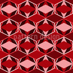 Greeting Rhombuses Pattern Design