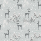 Dreamy Deer Seamless Vector Pattern Design