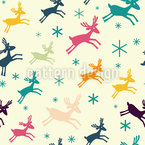 Funny Deer Seamless Vector Pattern
